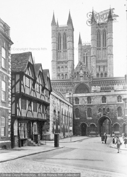 Photo of Lincoln, Castle Hill And Exchequer Gate c.1950