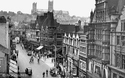 Lincoln, Cathedral And High Street c.1950