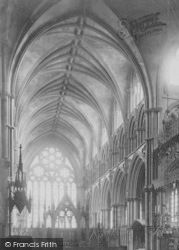 Lincoln, Cathedral, Angel Choir East c.1879