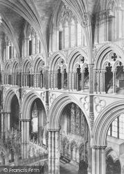 Lincoln, Cathedral, Angel Choir Triforium c.1879