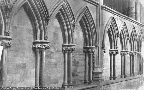 Photo of Lincoln, Cathedral, Arcading In North Choir Aisle c.1879