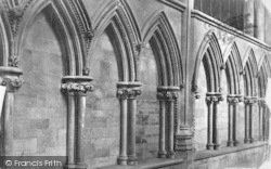 Lincoln, Cathedral, Arcading In North Choir Aisle c.1879
