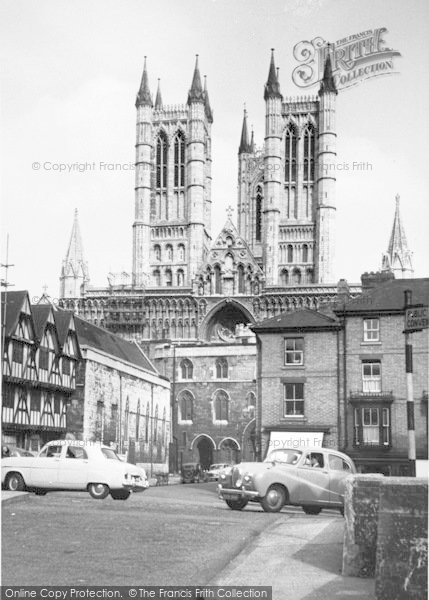 Photo of Lincoln, Cathedral c.1955