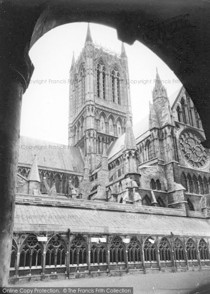 Photo of Lincoln, Cathedral, Central Tower From The Cloisters c.1965