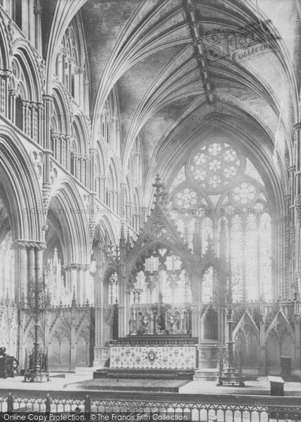 Photo of Lincoln, Cathedral, Choir East 1890