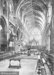 Lincoln, Cathedral, Choir East 1890