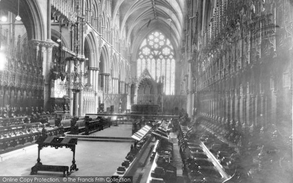 Photo of Lincoln, Cathedral, Choir East 1894