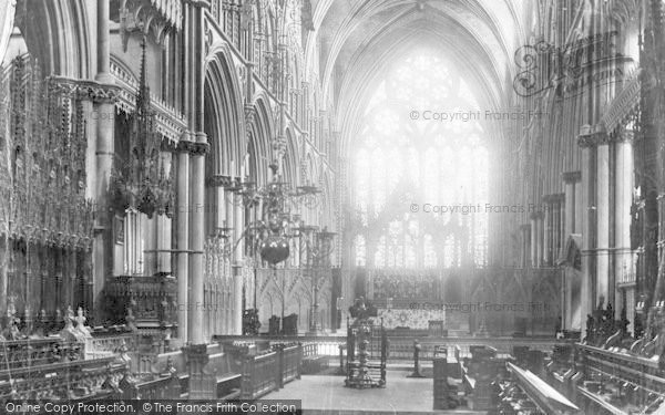 Photo of Lincoln, Cathedral, Choir East 1901