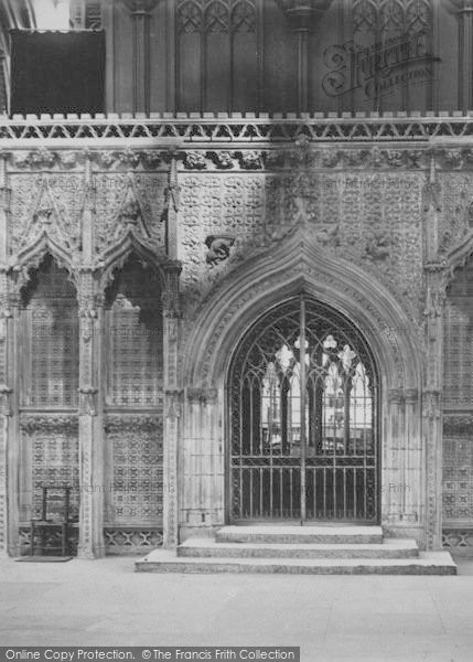 Photo of Lincoln, Cathedral, Choir Screen 1890