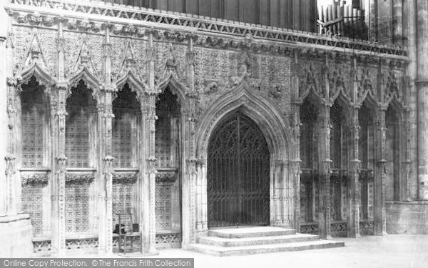 Photo of Lincoln, Cathedral, Choir Screen c.1897