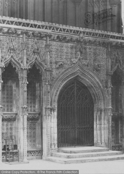 Photo of Lincoln, Cathedral, Choir Screen Door c.1897