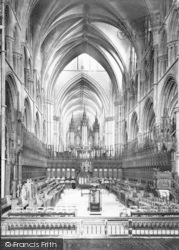 Lincoln, Cathedral, Choir West 1890