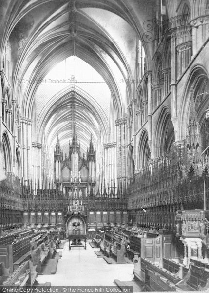 Photo of Lincoln, Cathedral, Choir West c.1879