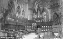Lincoln, Cathedral, Choir West c.1879