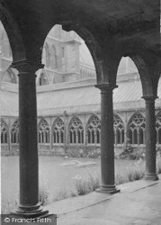 Lincoln, Cathedral, Cloisters 1890