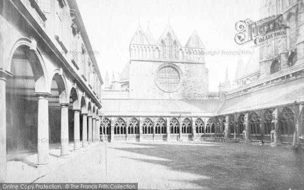 Photo of Lincoln, Cathedral, Cloisters And Chapter House c.1879
