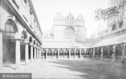 Lincoln, Cathedral, Cloisters And Chapter House c.1879