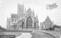 Lincoln, Cathedral, East End And Chapter House c.1879