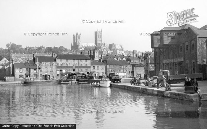 Lincoln, Cathedral from Brayford c1950