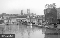 Lincoln, Cathedral From Brayford c.1950