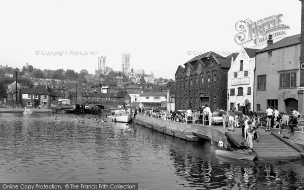 Photo of Lincoln, Cathedral From Brayford c.1965