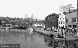 Lincoln, Cathedral From Brayford c.1965