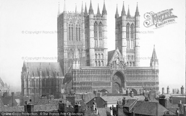 Photo of Lincoln, Cathedral From North West 1890