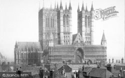 Lincoln, Cathedral From North West 1890