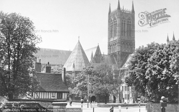 Photo of Lincoln, Cathedral From Northgate c.1955