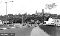 Lincoln, Cathedral From Pelham Bridge c.1960