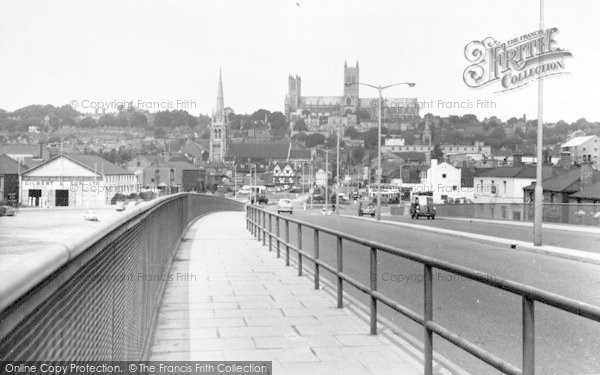 Photo of Lincoln, Cathedral From Pelham Bridge c.1960