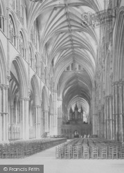 Lincoln, Cathedral, Nave East 1890