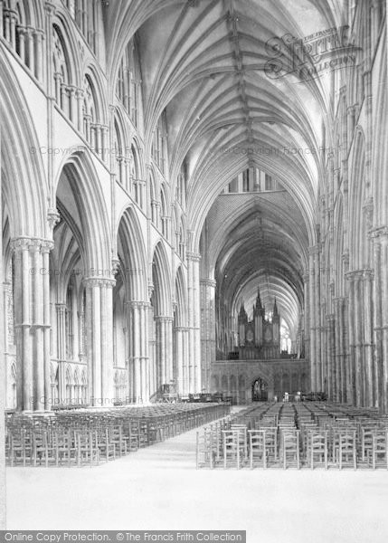 Photo of Lincoln, Cathedral, Nave East 1890