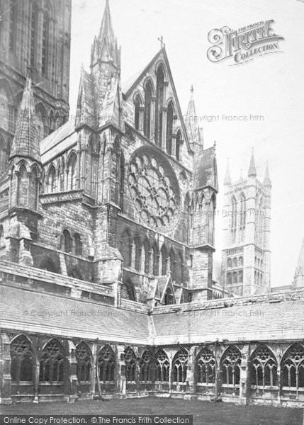 Photo of Lincoln, Cathedral, North Transept And Cloisters c.1879