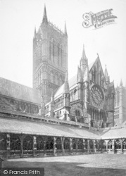 Lincoln, Cathedral, North Transept And Cloisters c.1879