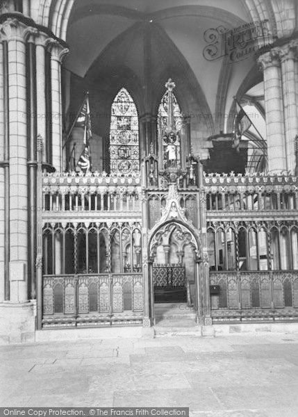 Photo of Lincoln, Cathedral, Soldiers Chapel c.1965