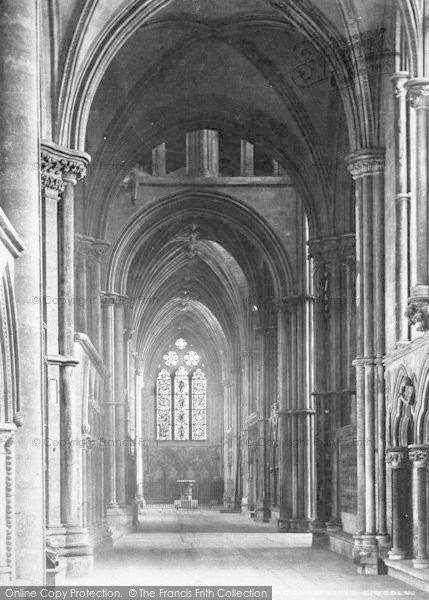 Photo of Lincoln, Cathedral, South Choir Aisle c.1879