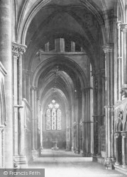 Lincoln, Cathedral, South Choir Aisle c.1879