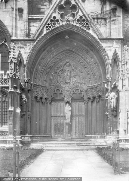 Photo of Lincoln, Cathedral, South Porch 1923