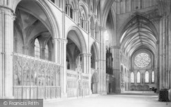 Lincoln, Cathedral, South Transept 1890