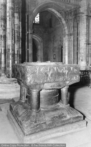 Photo of Lincoln, Cathedral, The Font c.1965