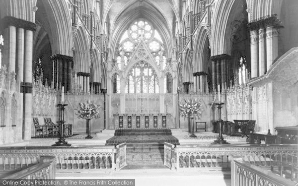 Photo of Lincoln, Cathedral, The High Altar c.1965