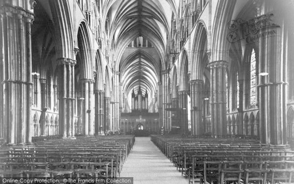 Photo of Lincoln, Cathedral, The Nave c.1965