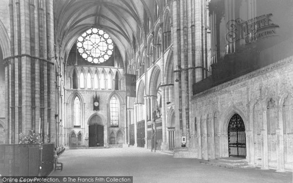 Photo of Lincoln, Cathedral, The Transept c.1965