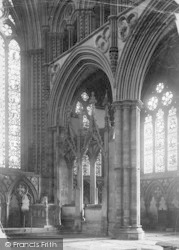 Lincoln, Cathedral, Tomb In Lady Chapel c.1879