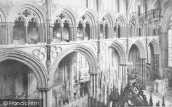 Lincoln, Cathedral, Triforium 1890