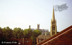 Lincoln, Cathedral, View Across Roof Tops 1979