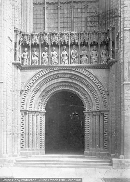 Photo of Lincoln, Cathedral, West Door 1890