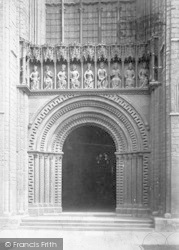 Lincoln, Cathedral, West Door 1890