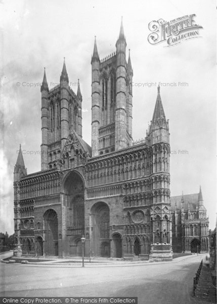 Photo of Lincoln, Cathedral, West Front 1890